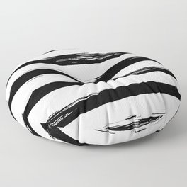 Stylish Black and White Stripes Floor Pillow