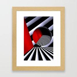 red white black -21- Framed Art Print