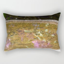 Bird Bath Reflection  Rectangular Pillow