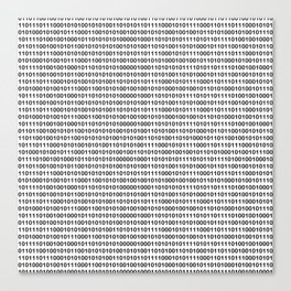 Binary Code Canvas Print