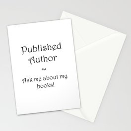 Published Author Clean Stationery Cards