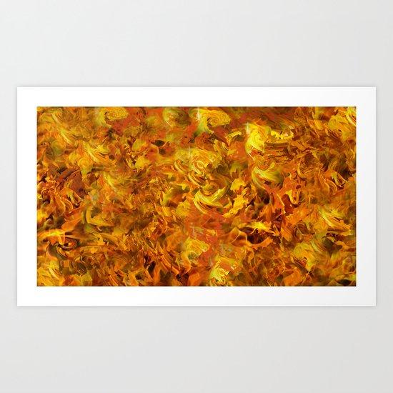 """Love Burns"" Art Print"