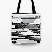 glitch Tote Bags featuring Glitch by poindexterity