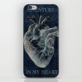 adventure heart-world map 4 iPhone Skin