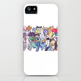 Illustration anime iPhone Case