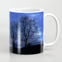 kindle Mugs featuring Moon between Trees  - JUSTART © by JUSTART