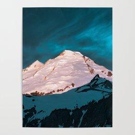 Mt Baker Blue Poster