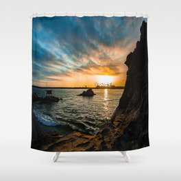 Simple Sunday - Pirates Cove Shower Curtain