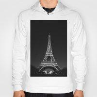 eiffel tower Hoodies featuring Eiffel Tower by alexaxm