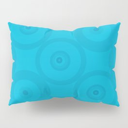 Blue Blue Circles Pillow Sham