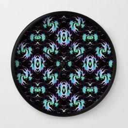 Planking in Black Onyx Wall Clock