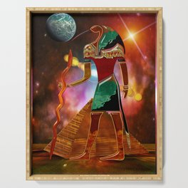 Ancient Secrets THOTH 3D Scifi Egyptian Serving Tray