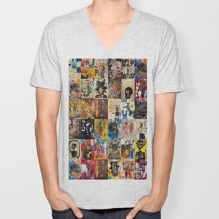 Basquiat Montage Unisex V-Neck