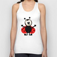 ladybug Tank Tops featuring Ladybug by Digital-Art