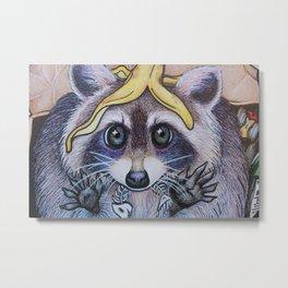 Guilty Trash Panda Metal Print