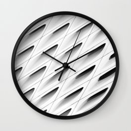 The Broad In the Afternoon Black & White Pattern Photography I Wall Clock