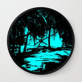 Slhouette 02 aqua Wall Clock