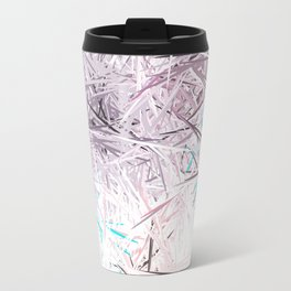 Decorative Pastel Lavender Sketch Abstract Travel Mug