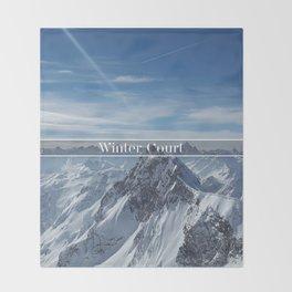 Winter Court Throw Blanket