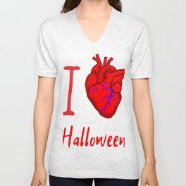 I Heart Halloween Unisex V-Neck