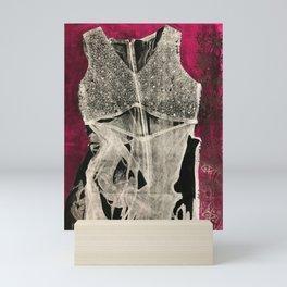 The black dress (pink) Mini Art Print
