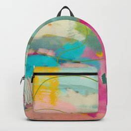 mixed abstract brush color study art 1 Backpack