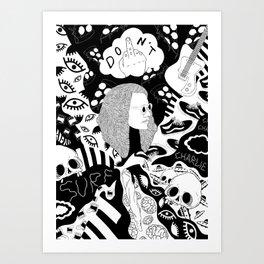 Charlie Don't Surf Art Print