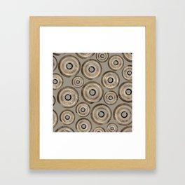 Enso Circles - Zen Circles Pastel Gold Framed Art Print