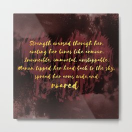 Manon Roared Metal Print