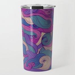 Purple metamorphoses Travel Mug
