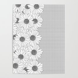 Daisy Grid on Side Poster
