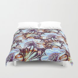Arabesque Plant Jungle in Lavender, Orange and Purple Ethnic Pattern Illustration Duvet Cover
