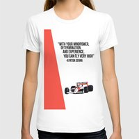 senna T-shirts featuring Senna Inspriation by Clutch Kick Collective