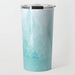 Geometric Lake Mountain IV - Winter Travel Mug