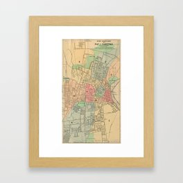 Vintage Map of Hartford Connecticut (1903) Framed Art Print