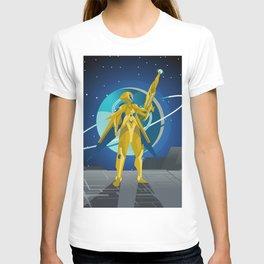space suit science fiction soldier T-shirt