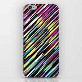 Diagonals color mix iPhone Skin
