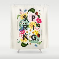 spring Shower Curtains featuring SPRING by Dawn Gardner