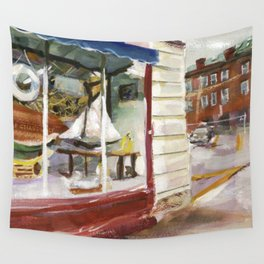 J.T.'s Ship Chandlery, Thames Street, Winter 1998 Wall Tapestry