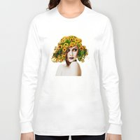 sunflowers Long Sleeve T-shirts featuring Sunflowers by EclipseLio