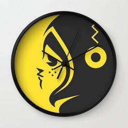 Yellow char Wall Clock