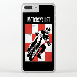 Motorcycle Magazine Number One 1961 Clear iPhone Case