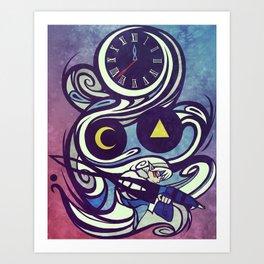 Deity Swirls Art Print