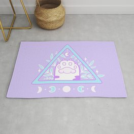 Witchy Cat Paw 01 Rug