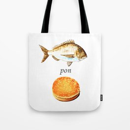Fish Pon Bun Tote Bag