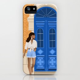 Dreaming of Portugal, Summer in Europe, Tiles, Door, Maroccan Style iPhone Case