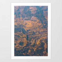 Golden Countryside Art Print