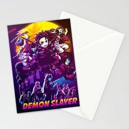 demon retro Stationery Cards