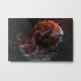 Jellyfish Nebula - Narrowband Metal Print