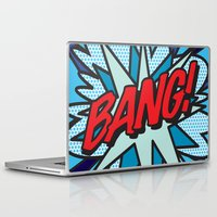 comic book Laptop & iPad Skins featuring Comic Book BANG! by The Image Zone